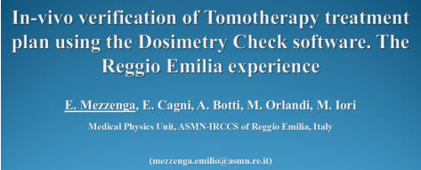 In-vivio verification of TomoTherapy treatment